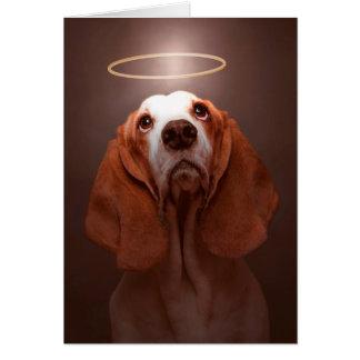 Carte de sympathie de chien de Sympathie-Basset de
