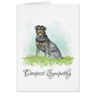 Carte de sympathie de chien - sympathie de chien