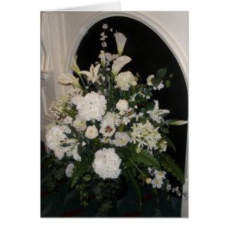 Carte de sympathie de fleur blanche