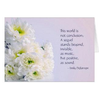 Carte de sympathie de fleurs blanches