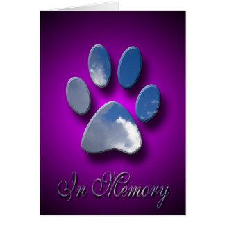 Carte de sympathie de la mort d'animal familier  