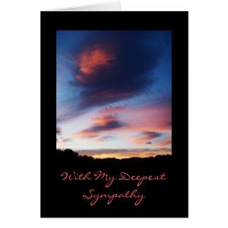 Carte de sympathie de lever de soleil