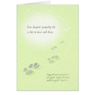 Carte de sympathie de perte d'animal familier -