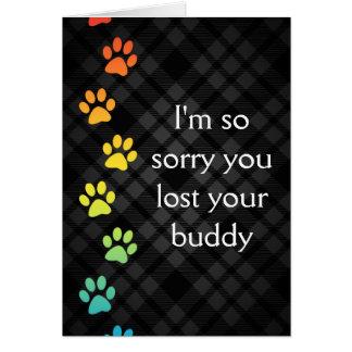 carte de sympathie de perte d'animal familier de