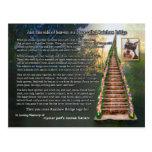Carte de sympathie de perte d'animal familier de p carte postale