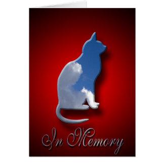 Carte de sympathie féline   dans la mémoire du cha