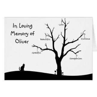 Carte de sympathie personnalisée de perte de chat