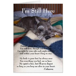 Carte de sympathie pour la perte d'animal familier