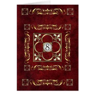 Carte de Tableau de Fleur de bois de rose d'empere