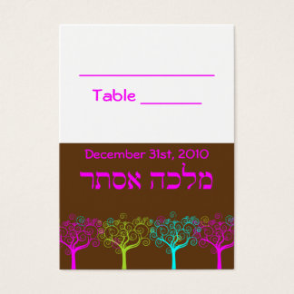 Carte de Tableau de mariage de bat mitzvah de
