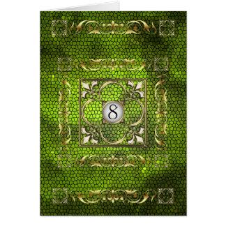 Carte de Tableau en verre souillé de Fleur de chau