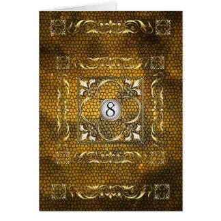 Carte de Tableau en verre souillé de Fleur d'or d'