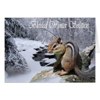 Carte de tamia bénie par païen de solstice d'hiver