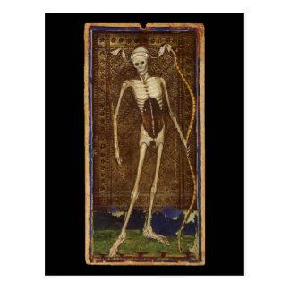 Carte de tarot de la mort carte postale