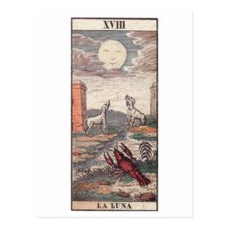Carte de tarot de Luna de La Cartes Postales