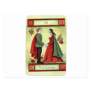 """""""Carte de tarot des amants"""" Carte Postale"""