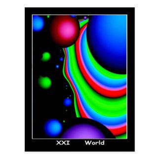 Carte de tarot du monde