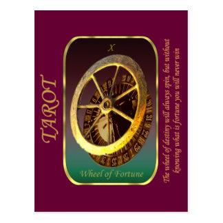 Carte de tarot - roue de la fortune