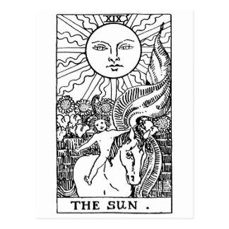 carte de tarot 'Sun Cartes Postales