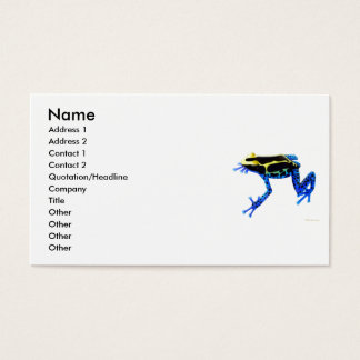 Carte de teinture de profil de grenouille de