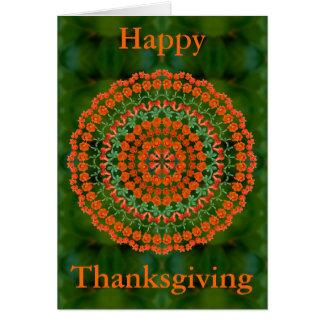 Carte de thanksgiving de mandala de grenade