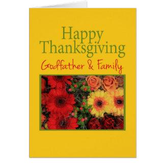 Carte de thanksgiving de parrain et de famille