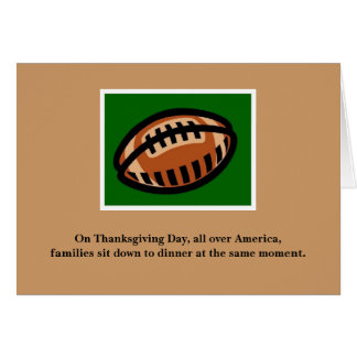 Carte de thanksgiving pour des passionés du