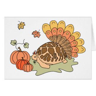 Carte de thanksgiving (tortue d'étoile)