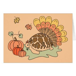 Carte de thanksgiving (tortue d'étoile, beiges)
