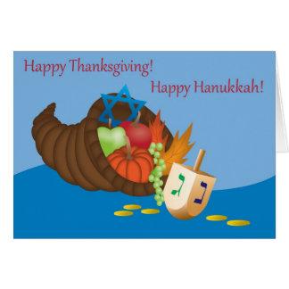 Carte de Thanksgivukkah (thanksgiving et Hanoukka)