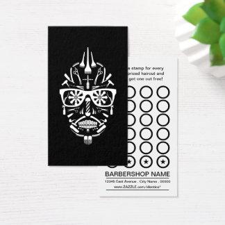 carte de timbre de crâne de sucre de