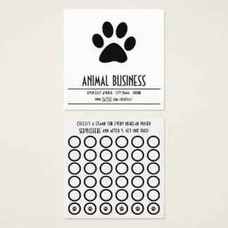 carte de timbre de patte d'animal familier