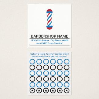 carte de timbre de poteau de raseur-coiffeur