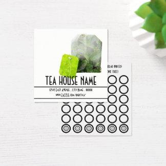 carte de timbre de thé