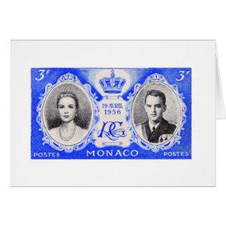 Carte de timbre-poste de pourcentage du Monaco