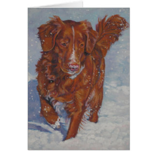 Carte de tintement de Noël de chien d'arrêt de