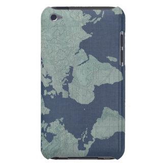 Carte de toile bleue du monde étui barely there iPod