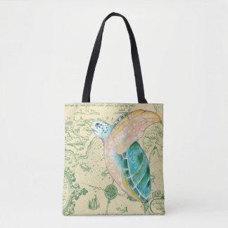 Carte de tortue de mer sac