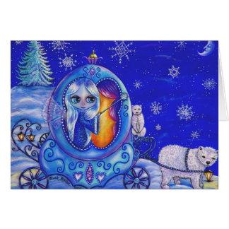 Carte de tour de chariot d'hiver