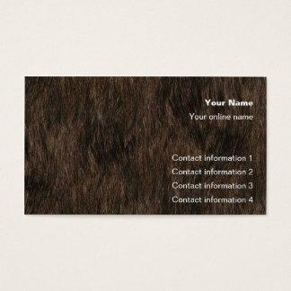 Carte de tour de peau d'ours/