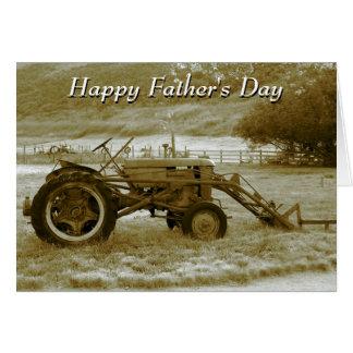 Carte de tracteur de fête des pères