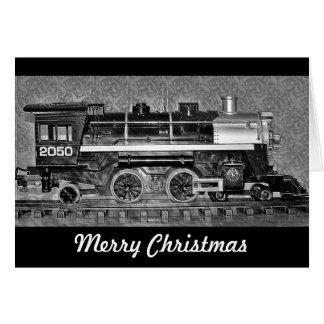 Carte de train de modèle de Joyeux Noël