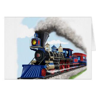 carte de train de vapeur d'enfants