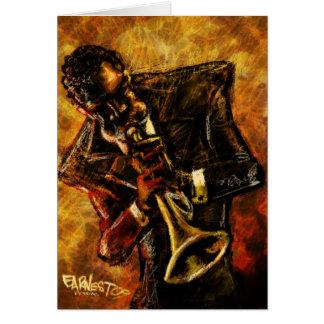 Carte de travaux de jazz