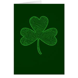 Carte de trèfle du jour de St Patrick