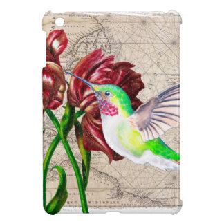 Carte de tulipe de colibri coque iPad mini