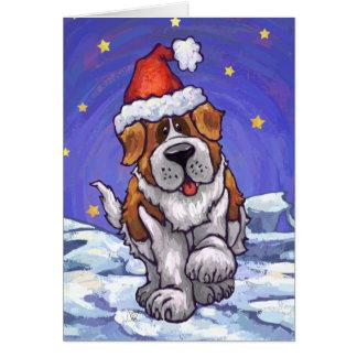 Carte de vacances de chien de St Bernard