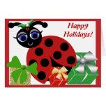 Carte de vacances de coccinelle de Madeleine Toon
