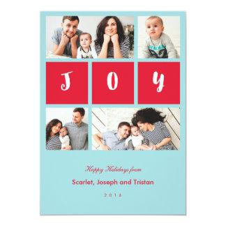 Carte de vacances de collage de photo de joie carton d'invitation  12,7 cm x 17,78 cm