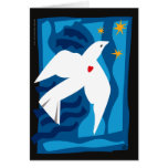 Carte de vacances de colombe de paix